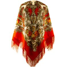 Zigana shawl with silk knitted long fringe ($72) ❤ liked on Polyvore featuring accessories, scarves, fringe, shawl, tie scarves, long scarves, oblong scarves, woven scarves and floral shawl