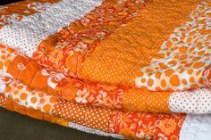 orange quilt by simplebeans, via Flickr.  Want to make orange quilt!!