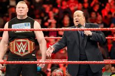 Paul Heyman: 'Brock Lesnar will return to the UFC if he wants to': Even in a sweat suit Paul Heyman is magic on the mic. Wwe Brock, Paul Heyman, Brock Lesnar, He Wants, Ufc, Akira, Beast, Champion, Wrestling