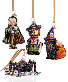 christopher radko halloween ornaments collection halloween holiday lane macys 42 each - Halloween Christmas Ornaments
