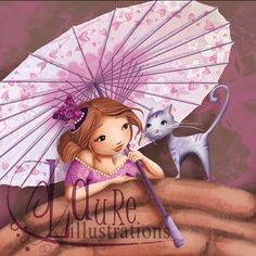femme romantique avec un chat sous une ombrelle