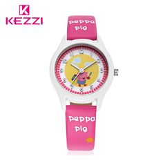 KEZZI Luxury Brand aChildren watches Leather Strap Wristwatch Student Quartz Girl Watch Clocks Boy Lovely Watch Cartoon Watch #Affiliate