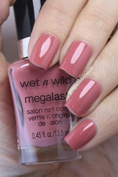 grape fizz nails: Wet n Wild Megalast Swatches Pretty Nail Colors, Pretty Nails, Colorful Nail Designs, Nail Art Designs, Wet N Wild Cosmetics, Manicure And Pedicure, Nail Inspo, Toe Nails, Finger