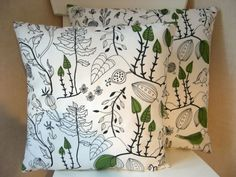Handmade Cushion Cover in Ikea 'Cecilia' Fabric to go with curtains