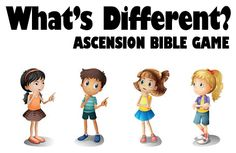 """This Bible game, using a physical version of """"Where's Waldo?"""" teaches kids about the Ascension while also improving visual memory skills.  Ascension Bible Game: What's Different?  Materials  15 objects from around the classroom, including"""