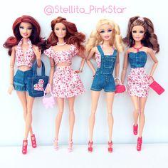 Stellita PinkStar handmade collection for Barbie dolls conjuntos en miniatura realizados a mano por stellita PinkStar
