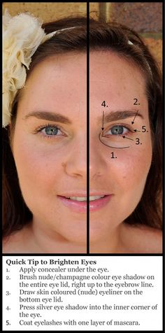 How to brighten eyes -- for tired eyes