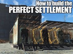 Building a settlement is one of the biggest new additions to 'Fallout . but it's not always easy to wrap your head around. Don't worry, this guide will help you build the perfect post-apocalyptic digs. Fallout 4 Tips, Fallout Cosplay, Fallout Game, Fallout New Vegas, Fallout 4 Settlement Ideas, Vault Tec, Bethesda Games, Video X, Gaming Tips