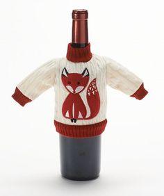 Food Network™ Fox Sweater Wine Bottle Cover #Kohls #FoodNetwork #GiftIT
