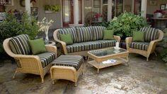 Lexington 6 Piece Wicker Furniture Sofa Set