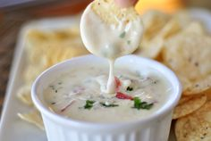 Not only is it extremely simple to prepare, the absolute delicious creaminess of… Dip Recipes, Mexican Food Recipes, Appetizer Recipes, Cooking Recipes, Party Recipes, Dip Appetizers, Mexican Dishes, Copycat Recipes, Sauces