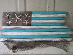 """Handcrafted Coastal Flag """"Island Waters"""" by Jimmy & Jaime McPhillips - available at Outer Banks Trading Group"""