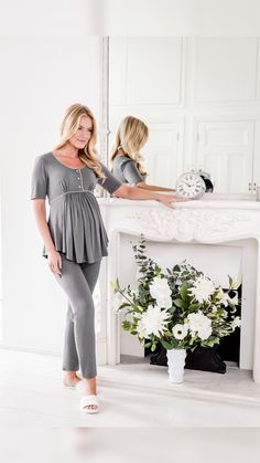 Luxury Maternity over-the-bump pyjamas from www.bumpkyn.co.uk