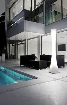 Colonne lumineuse contemporain / en polycarbonate / d'extérieur MASAI : P-932/EXT Pujol Iluminacion