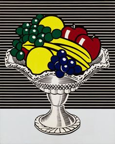 Roy Lichtenstein (1923–1997), Still Life with Crystal Bowl, 1972. Whitney Museum of American Art
