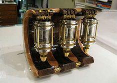 steampunk lantern clock