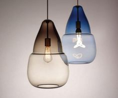 Nice Hand-Blown Moroccan-Inspired Pendant Lights  #Design #Edison #LightBulb #Modern #Vintage       The Capsian Grande and Mali Pendant Lights can easily become the unifying element in a modern space. Their fairytale see-through curves ar...