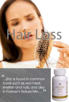 If you find shedded hair during, washing, brushing, or styling, this could be a sign of Zinc deficiency, but do not panic as this at moderate levels is not unusual. Increasing your Zinc levels minimises hair loss, thickening your head of hair. Zinc is found in common foods such as red meat, shellfish and nuts. And also in Forever's Nature-Min. www.lifestyle16.flp.com