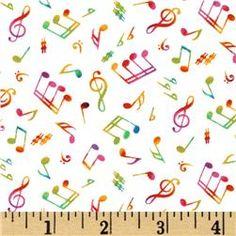 notas musicais às cores