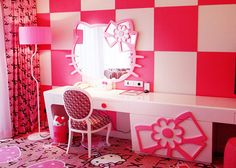 Hello Kitty room. Just thought it was cute