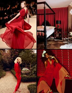 Trend Spotting Red Interiors in Design, Home Decor, Art, Accessories, Style and Fashion. Featured: Red Color Palettes in fashion