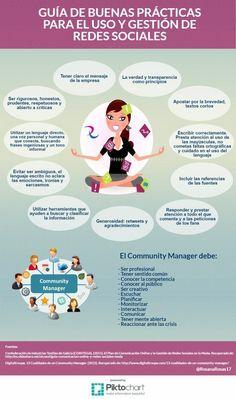 Guía de buenas prácticas para el uso y gestión de Redes Sociales #Infografía