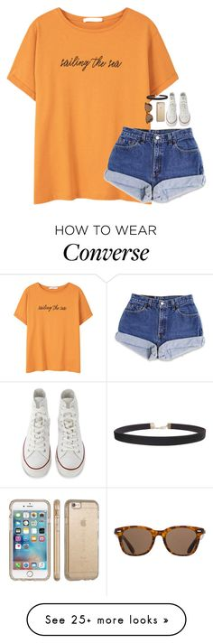 """""""~sailing the sea :) // Nola Grace"""" by water-whale on Polyvore featuring MANGO, Converse, Humble Chic, Speck and ToyShades"""