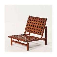 Ilmari Tapiovaara / Wood And Leather Lounge Chair, 1958