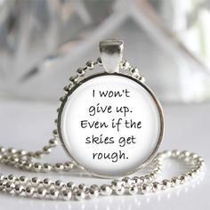 Jason Mraz - I Won't Give Up - Art Photo Pendant Necklace - Music, Lyrics, Quotes