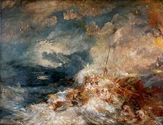Title: A Disaster at Sea, c.1835  Artist: Joseph Mallord William Turner  Location: Tate Gallery London United Kingdom