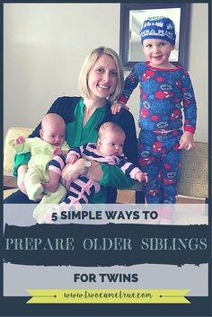 Preparing to welcome twins into your family is nerve racking. Preparing an older sibling for the newest additions can be even more challenging. Here are 5 simple tips to ease the stress of welcoming twins for every member of your family!