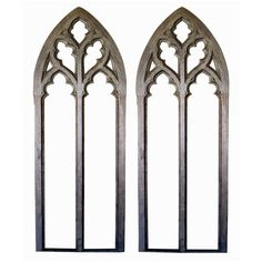 "A Grand-Scaled Pair of American Neo-Gothic Window Frames - ""decorated fenestration"""