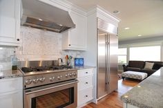 stainless steel appliances with white cabinets | ... Stainless Steel Appliances Pict White Kitchen with Stainless Steel