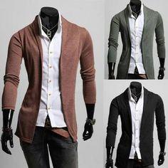 Simple Men Style Knit Cardigan