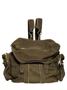 ALEXANDER WANG - MARTY NUBUCK EFFECT LEATHER BACKPACK