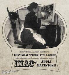 vintage advertisement of iMac