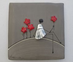 Ceramic Wall Art, Ceramic Clay, Ceramic Painting, October Art, Ceramic Figures, Mural Wall Art, Ceramic Studio, Wire Art, Clay Projects