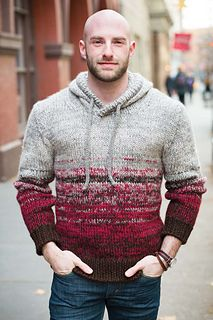 #6 Man's Hoodie from Vogue Knitting, knit in The Fibre Co Knightsbridge