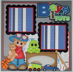 BLJ Graves Studio: Boys and Their Toys Scrapbook Layouts