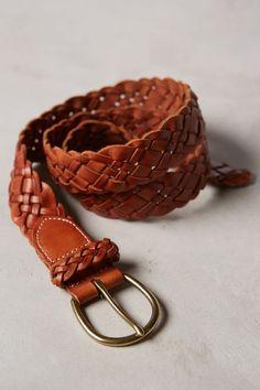Leather Lattice Belt - anthropologie.com