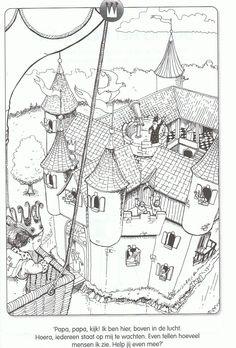 Kleur en telplaat kasteel