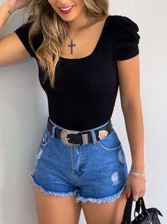 110 fashion trends that we stole from the early -page 1 Basic Outfits, Summer Fashion Outfits, Cute Summer Outfits, Cute Casual Outfits, Short Outfits, Cute Fashion, Look Jean, Really Cute Outfits, Vetement Fashion