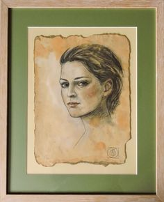 ARTFINDER: Portrait Study by Katia Bellini - For this drawing I used the classic technique of three chalk. It is essentially the manipulation of sanguine, black and white chalk to suggest the warmth and...