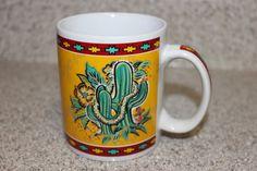 Hibiscus & Cactus Arizona Hilo Hattie Coffee Mug Cup State Souvenir 2000 RARE #HiloHattie