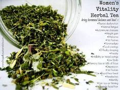 Womens vitality tea