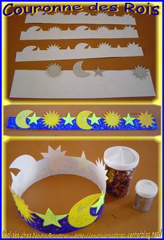 Couronne des rois... avec les astres *1* Diy And Crafts, Crafts For Kids, Arts And Crafts, Preschool Birthday, Space Preschool, Crown Crafts, Space Theme, Preschool Activities, Paper Flowers