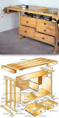 Practical Workbench Plans - Workshop Solutions Plans, Tips and Tricks   WoodArchivist.com