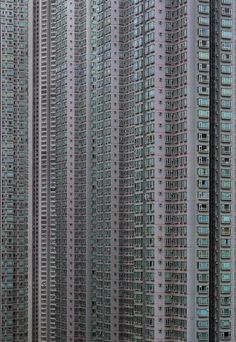 """Just one of the high-rise buildings in Hong Kong in Michael Wolf's series 'Architecture of Density' photomichaelwolf…. Eines der Hochhäuser in Hongkong in der Serie """"Architecture of Density"""" von Michael Wolf fotomichaelwolf …. Wolf Photography, Street Photography, City Landscape, Urban Landscape, Hong Kong Building, Michael Wolf, Hongkong, City Aesthetic, High Rise Building"""