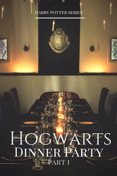 A Harry Potter Hogwarts Dinner Party – Presents For Mom Objet Harry Potter, Harry Potter Decor, Harry Potter Houses, Harry Potter Hogwarts, Potters House, Diy Hanging Shelves, Dinner Party Recipes, Dinner Ideas, Birthday Dinners