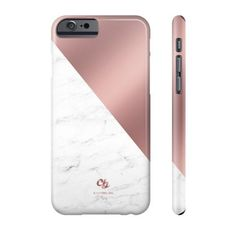 Rose Gold & Marble Phone Case